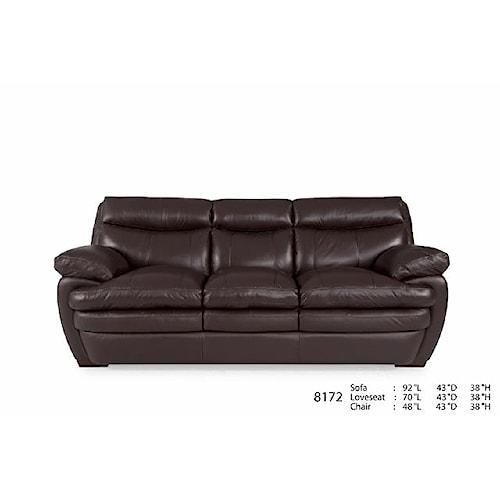 Futura Leather 8172 Acacia Coffee Leather Sofa Dunk Bright Furniture Sofa