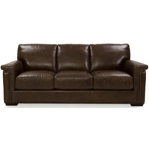 Futura Leather 8941 Stationary Sofa Stoney Creek Furniture Sofa Toronto Hamilton Vaughan