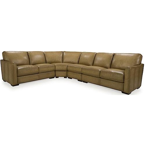 Futura Furniture Leather Sofa E1358 Casual