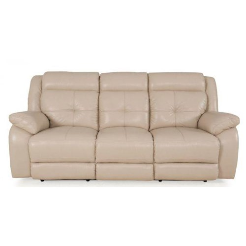 7203 Three Piece Sectional Sofa By Futura Leather: Futura Leather Pebble Power Reclining Sofa With Pillow