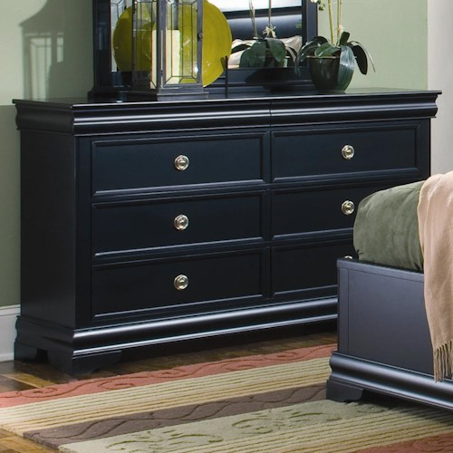 Louis Philippe Dresser With 6 Drawers And Hidden Jewelry