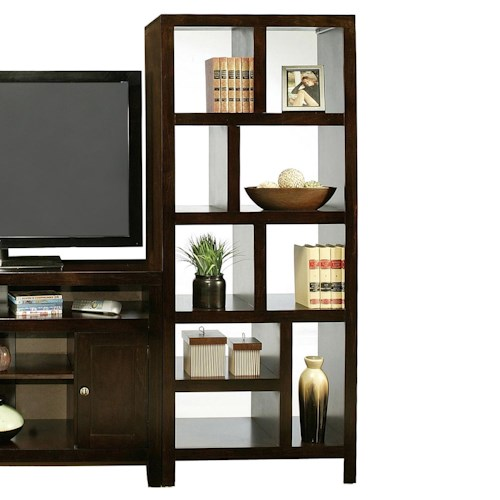 Home Home Office Furniture Open Bookcase Del Mar Room Divider Tower