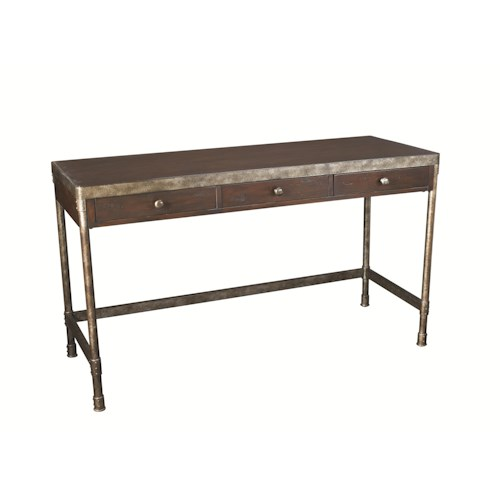 Hammary Structure Metal Table Desk W 3 Drawers Belfort