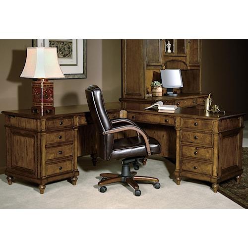 hekman 7 9000 executive l desk olinde 39 s furniture l