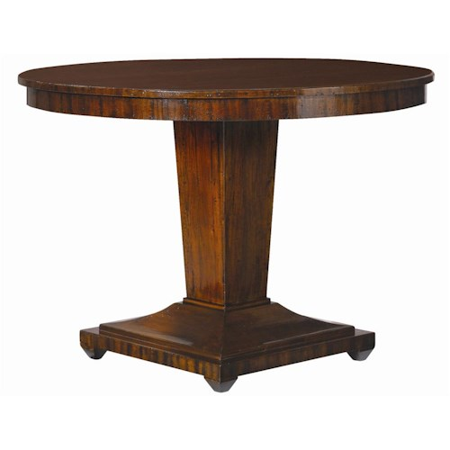 Henredon acquisitions round center table with single for Round centre table designs