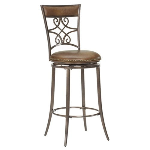 Hillsdale metal stools 26 counter height seville swivel stool wayside furniture bar stool - Aluminum counter height stools ...