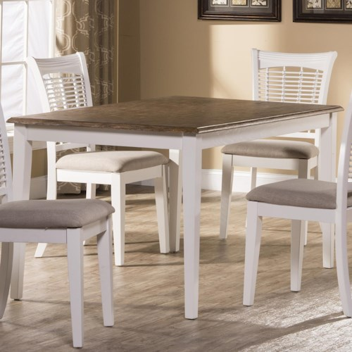 Hillsdale Bayberry White 5791 814 Rectangular Dining Table