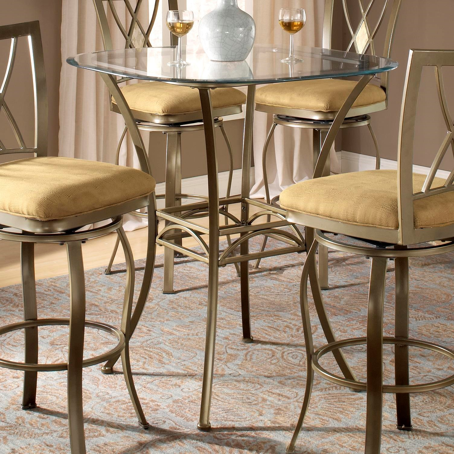 Hillsdale Brookside Bar Height Bistro Table with Splayed