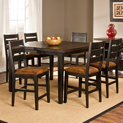 Hillsdale killarney 7 piece counter height table stool for 7 piece dining room set counter height