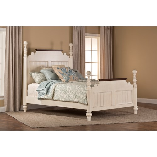 pine island1 1052bkrp king post bed with slat design at johnny janosik