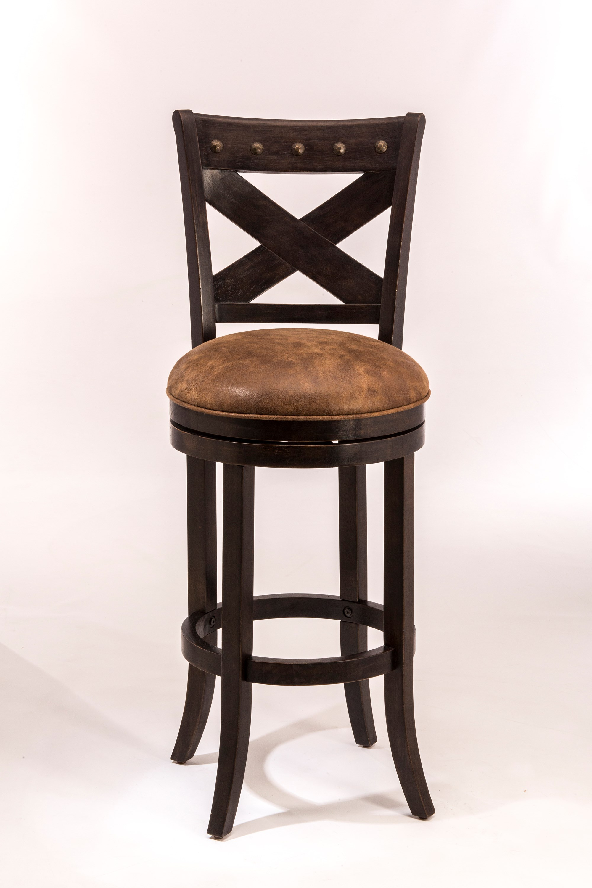 Hillsdale Wood Stools Swivel Counter Height Stool With X