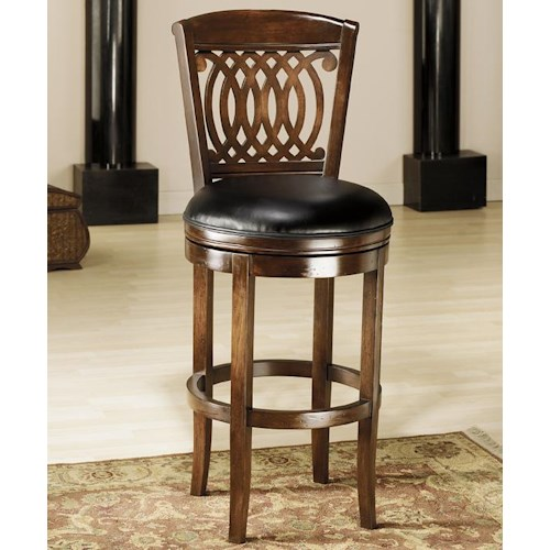 Hillsdale wood stools 24 counter swivel stool dunk - Bright colored bar stools ...
