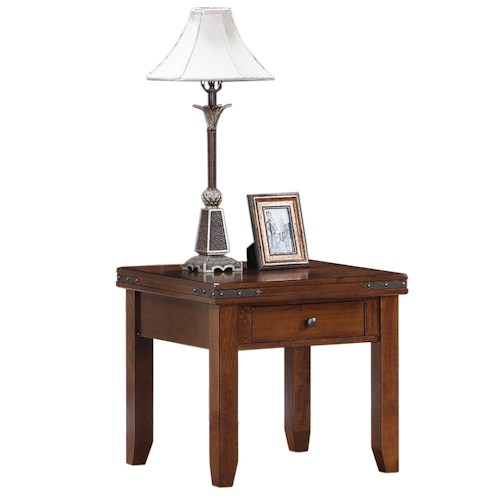 Coventry square end table morris home furnishings end table Morris home furniture outlet