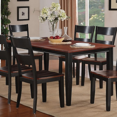 holland house 8202 rectangular table with tapered legs