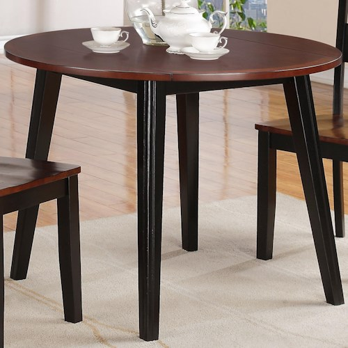 Outdoor Kitchen Jackson Ms: Holland House 8202 Round Drop Leaf Table With Splayed Legs