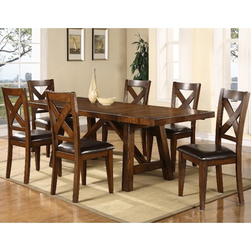 Holland House Lakeshore 7 Piece Trestle Table And Chair