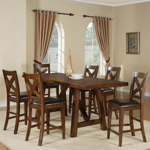 Ashley Furniture Metairie: Holland House Lakeshore 5 Piece Counter Height Table And