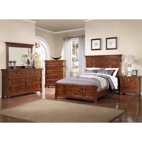 Holland house mango queen bedroom group 1 godby home Bedroom furniture stores indianapolis
