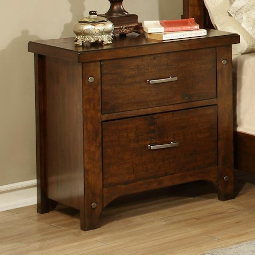 Holland house mustang bedside chest night stand godby for Bedroom furniture indianapolis
