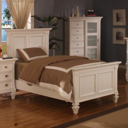 Holland house summer breeze twin panel bed godby home Bedroom furniture stores indianapolis