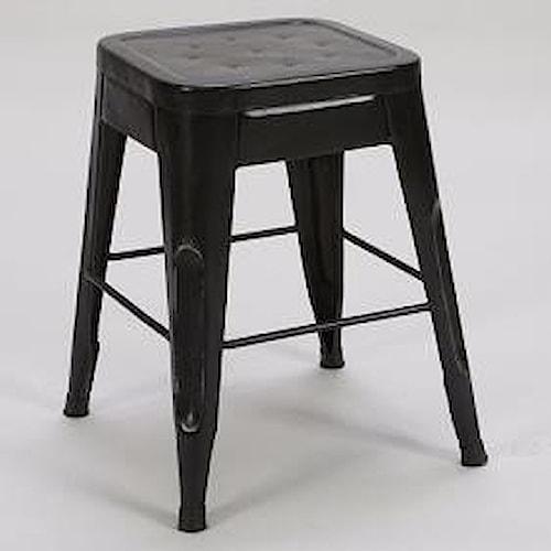 Homelegance Amara 5035blk 18 Modern 18 Metal Bar Stool Del Sol Furniture Bar Stools Phoenix