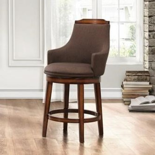 Homelegance Bayshore Fabric Transitional Upholstered Counter Height Chair Wit