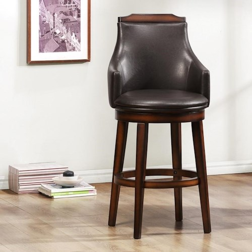 Homelegance Bayshore Transitional Upholstered Counter Height Chair With Swiveling Seat Beck 39 S