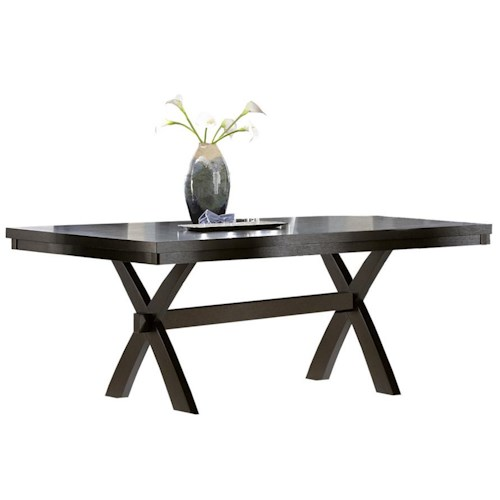 Homelegance Sherman Rectangular Dining Table With Trestle Beck 39 S Furniture Dining Room Table