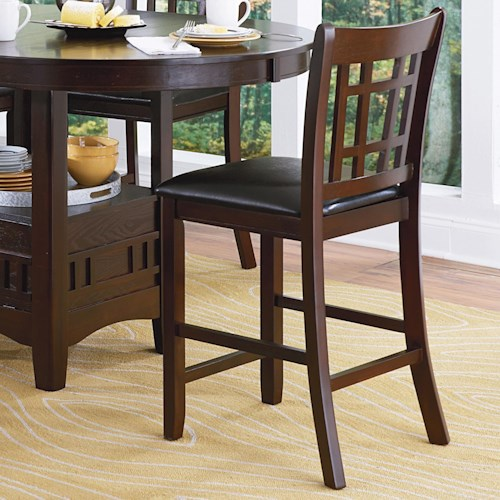 Homelegance Junipero Mission Bar Stool With Upholstered Seat Beck 39 S Furniture Bar Stools