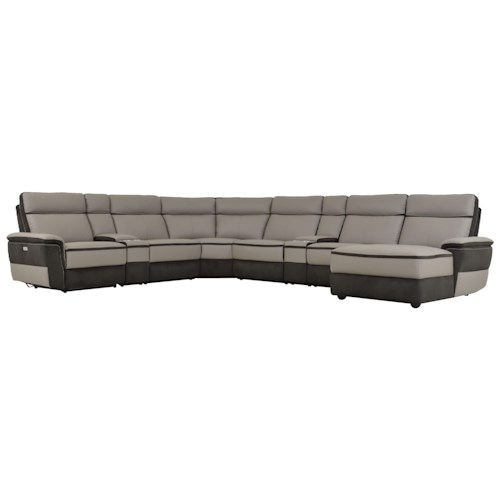 Homelegance Laertes Contemporary Power Reclining Sectional Northeast Factory Direct