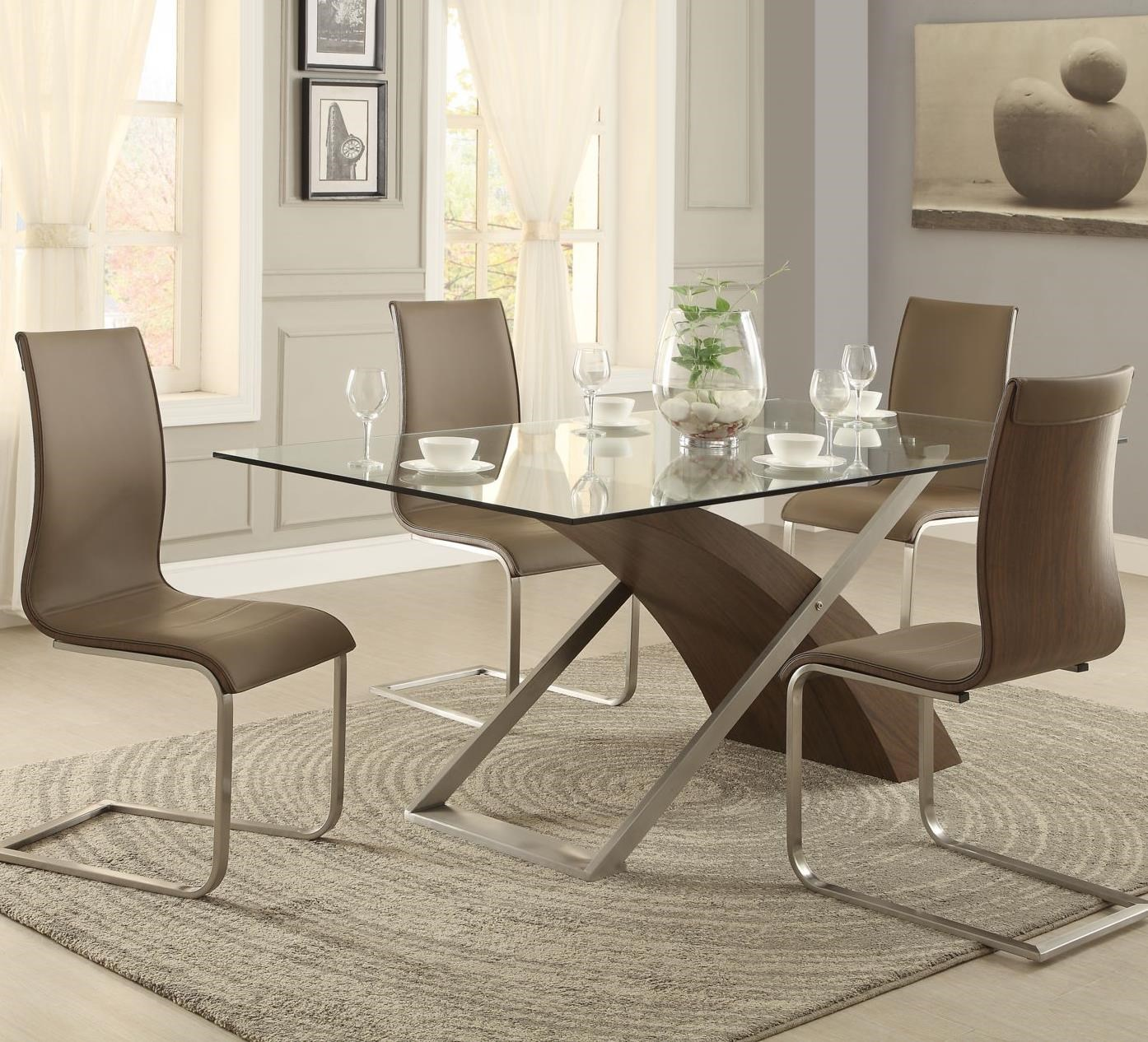Homelegance Odeon 5 Piece Dining Set with Glass Table Top  : odeon2052615261gwbmb4x5261s 2p b1jpgscalebothampwidth500ampheight500ampfsharpen25ampdown from www.boulevardhomefurnishings.com size 500 x 500 jpeg 57kB