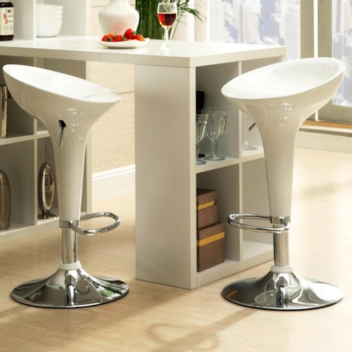 Homelegance Ride Adjustable Height Airlift Swivel Stool With Curved Seat Beck 39 S Furniture
