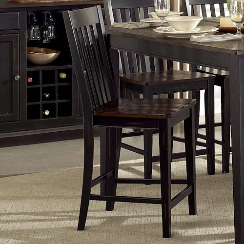 Homelegance Three Falls Counter Height Slat Back Chair Value City Furniture Bar Stool