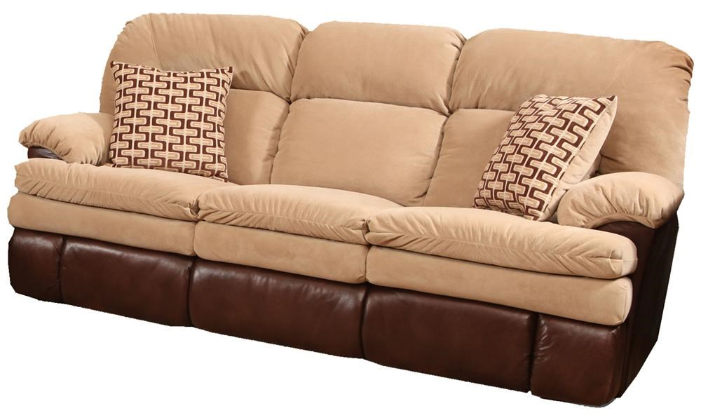 HomeStretch 103 Casual Double Reclining Sofa with 2 Accent