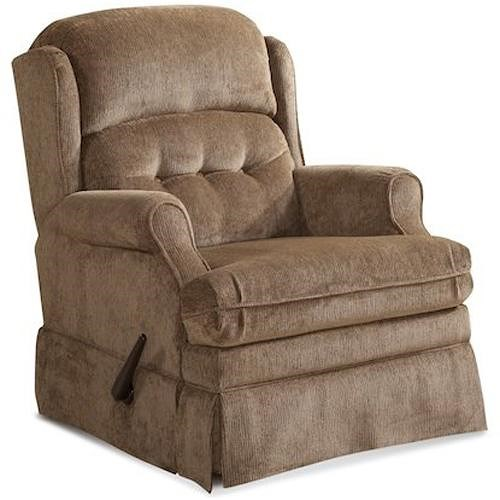 Homestretch 106 casual swivel glider recliner with tufted for Ivan smith furniture