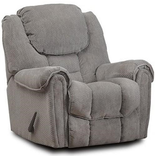 HomeStretch 122 Casual Power Rocker Recliner with Pillow