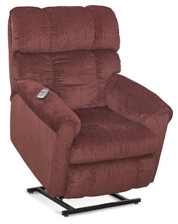 HomeStretch 134 Casual Lift Recliner With Plush Chaise   Ivan Smith  Furniture   Lift Recliner