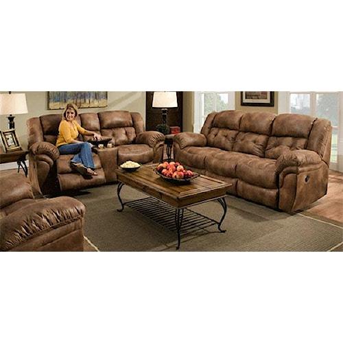 Comfort living sierra reclining sofa loveseat set for Comfort living furniture