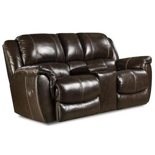 Homestretch princeton casual power rocking console loveseat with cup holders ivan smith Loveseat with cup holders