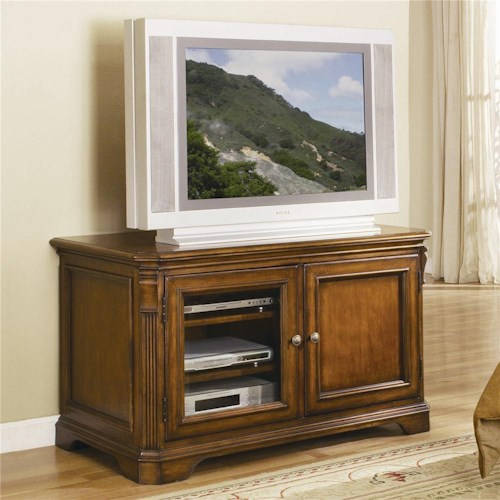 Hooker furniture brookhaven 44 inch tv console belfort for Brookhaven kitchen cabinets price