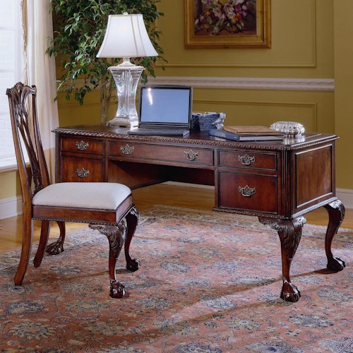 Hooker Furniture 434 434 10 158 Ball Claw Writing Desk