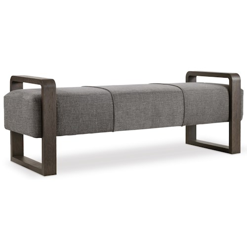 Hooker Furniture Curata Modern Upholstered Bench Belfort