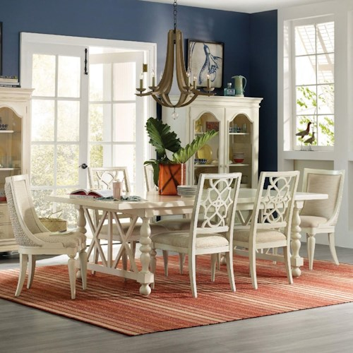 Hooker Furniture Sandcastle 7 Piece Dining Set Baer 39 S Furniture Dinin