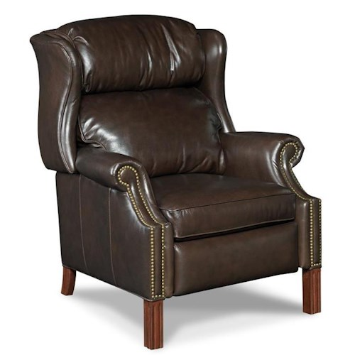 Hooker furniture reclining chairs rc214 219 high leg for Furniture 0 down