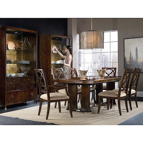Hooker furniture skyline dining room group zak 39 s fine for Dining room johnson city tn