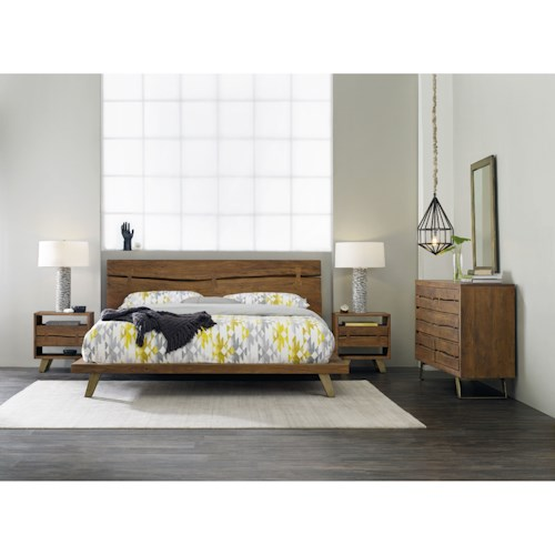 Hooker furniture transcend queen bedroom group mueller for Bedroom furniture groups