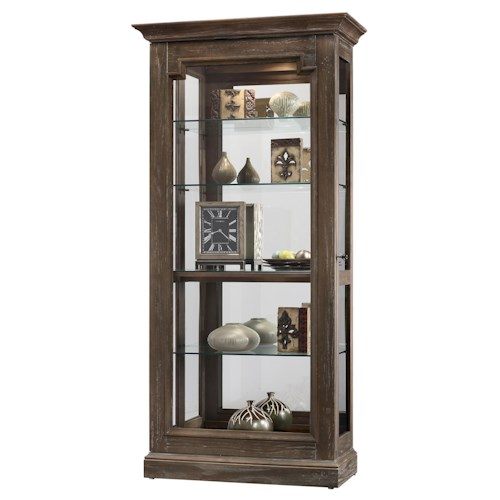 Howard Miller Cabinets Caden Ii Curio Cabinet With Sliding Door Dunk Bright Furniture