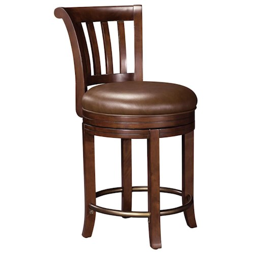 Howard Miller Ithaca Upholstered Swivel Pub Stool Becker Furniture World Bar Stool Twin