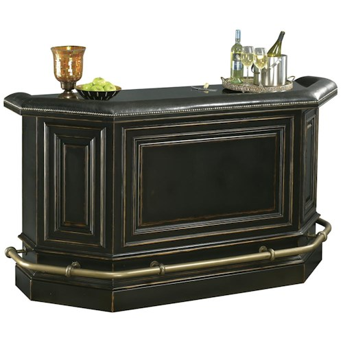 Black Home Bar Furniture: Howard Miller Northport Burnished Black Bar Cabinet