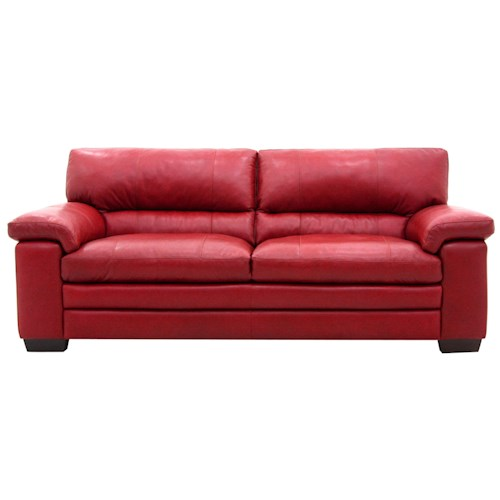 Htl 2433 casual styled sofa for comfortable family room for Comfortable family sofa
